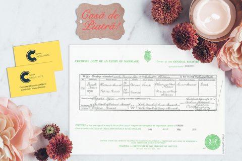 Certificat de casatorie in UK Cozma Consultants