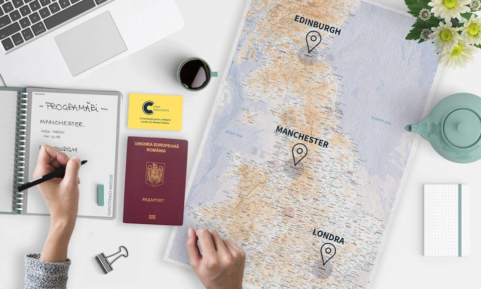 Cozma Pasaport programare urgent Londra Edinburgh Manchester