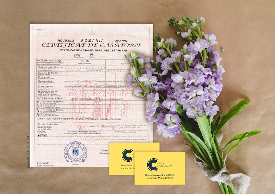 Căsătoria în Republica Moldova și certificatul de căsătorie românesc